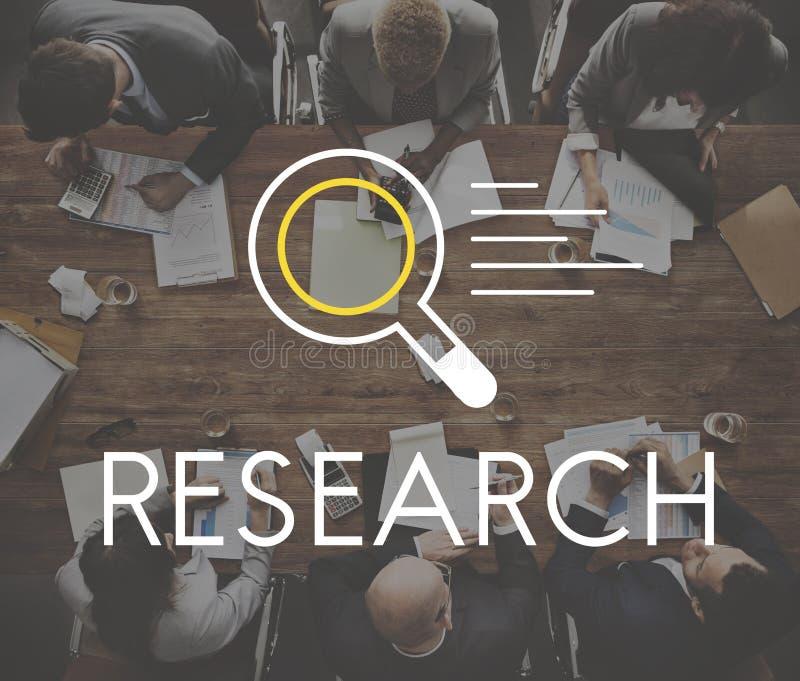 Concept de découverte de la connaissance de résultats de la recherche image libre de droits