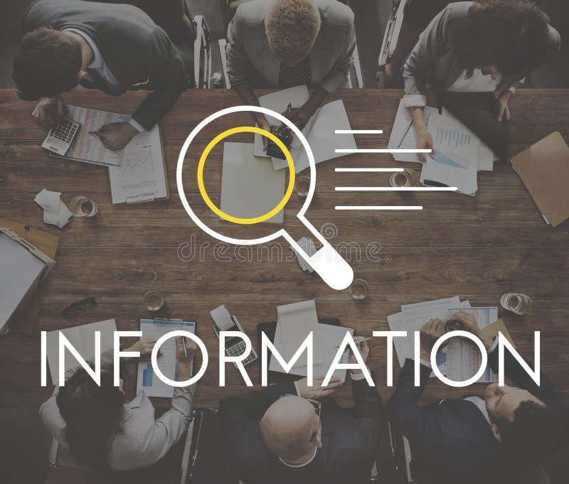 Concept de découverte de la connaissance de résultats de la recherche de l'information image stock