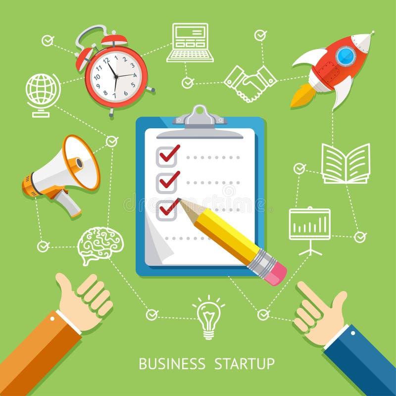 Concept de démarrage d'entreprise Vecteur illustration stock