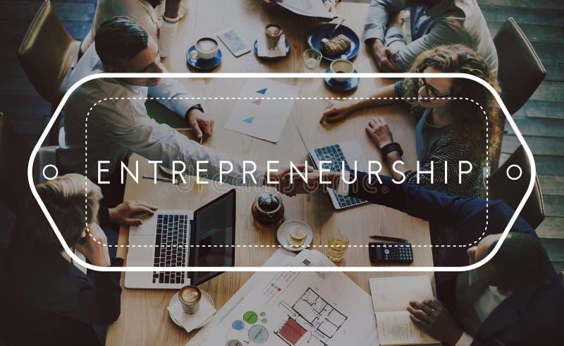 Concept de démarrage de risque d'organisateur d'affaires d'esprit d'entreprise photo libre de droits