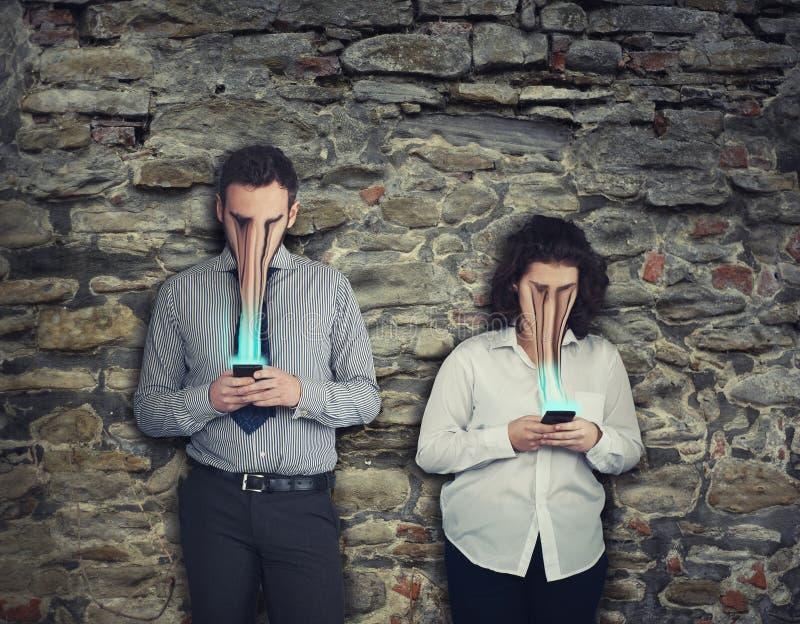 Concept de dépendance de téléphone image libre de droits