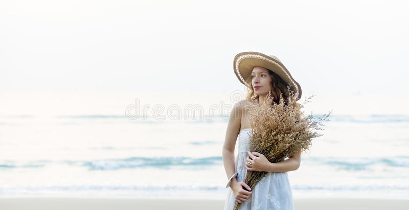 Concept de déplacement de relaxation de vacances de vacances d'été de plage photo libre de droits