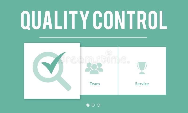 Concept de développement d'amélioration de contrôle de qualité illustration stock
