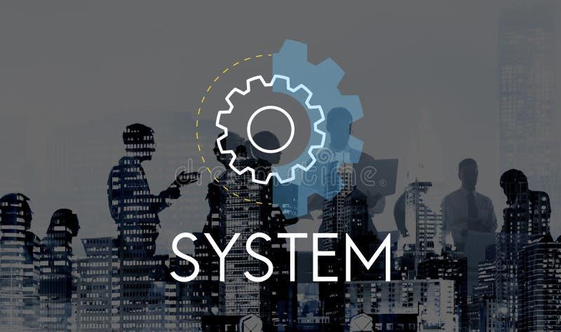Concept de développement d'analyse d'action d'affaires de système image libre de droits