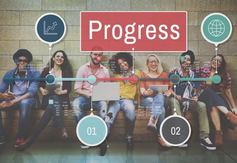 Concept de développement de mission d'investissement d'amélioration de progrès photo stock