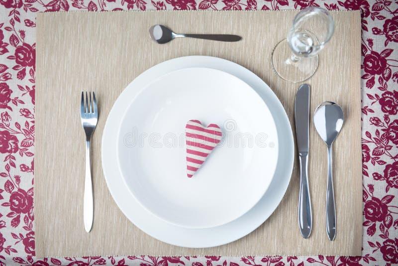 Concept de dîner de Valentine images stock