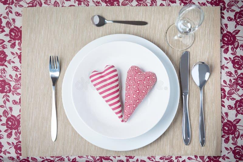 Concept de dîner de Valentine photo stock