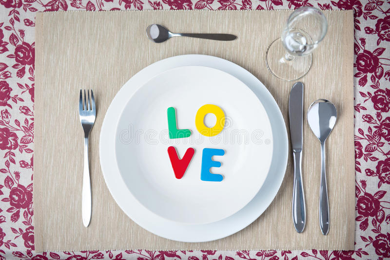 Concept de dîner de Valentine image libre de droits