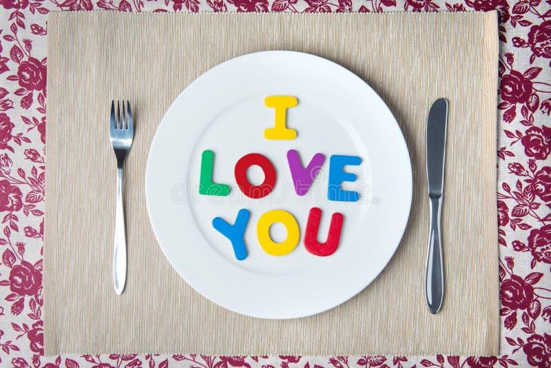 Concept de dîner de Valentine photos stock