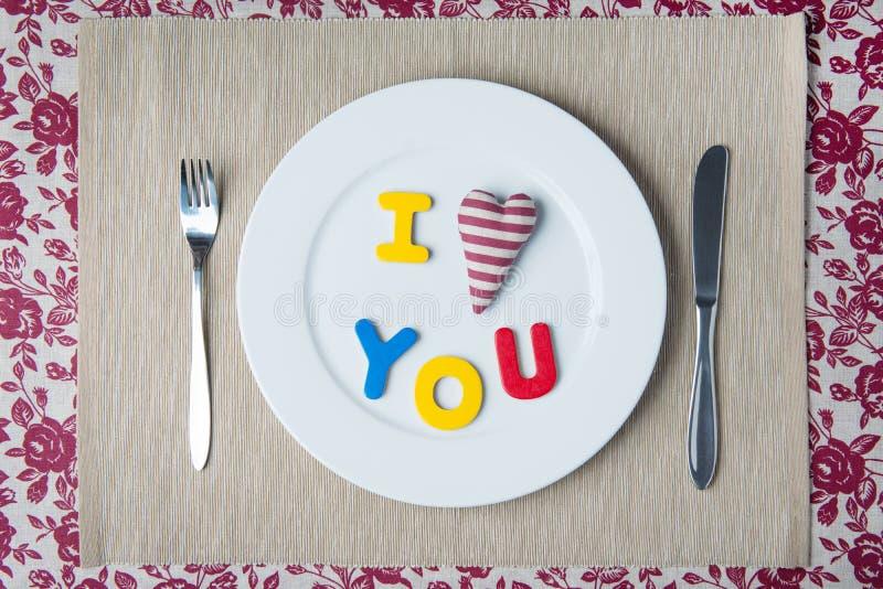 Concept de dîner de Valentine image stock