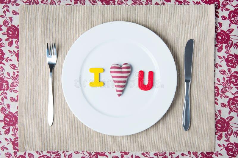 Concept de dîner de Valentine photographie stock