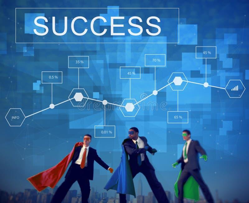 Concept de but d'Analytics d'accomplissement de réussite commerciale photos stock