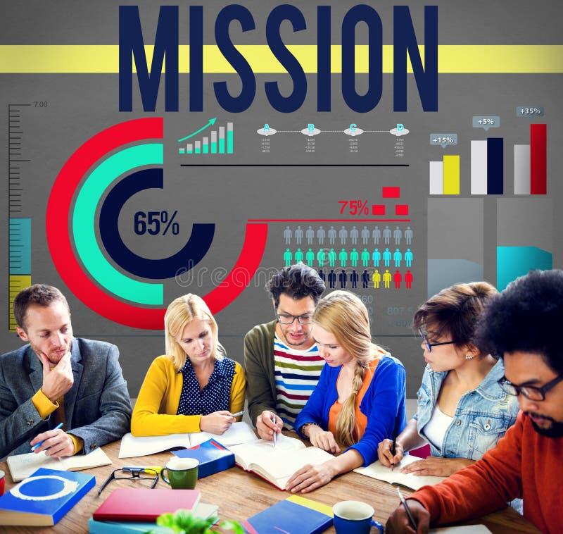 Concept de but d'inspiration de but de cible de mission photos libres de droits