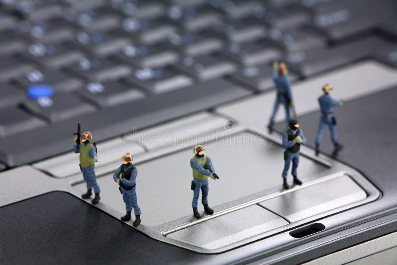 Concept de degré de sécurité d'ordinateur photos stock