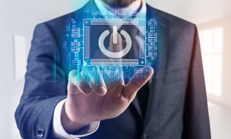 Concept de degré de sécurité de dispositifs de technologie de l'information image libre de droits