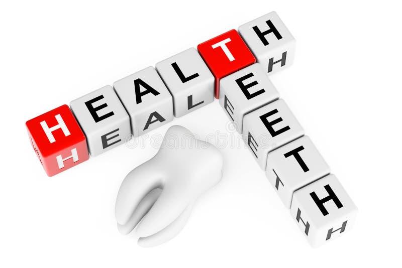 Concept de dents de santé. Signe comme blocs de mots croisé avec la dent illustration libre de droits