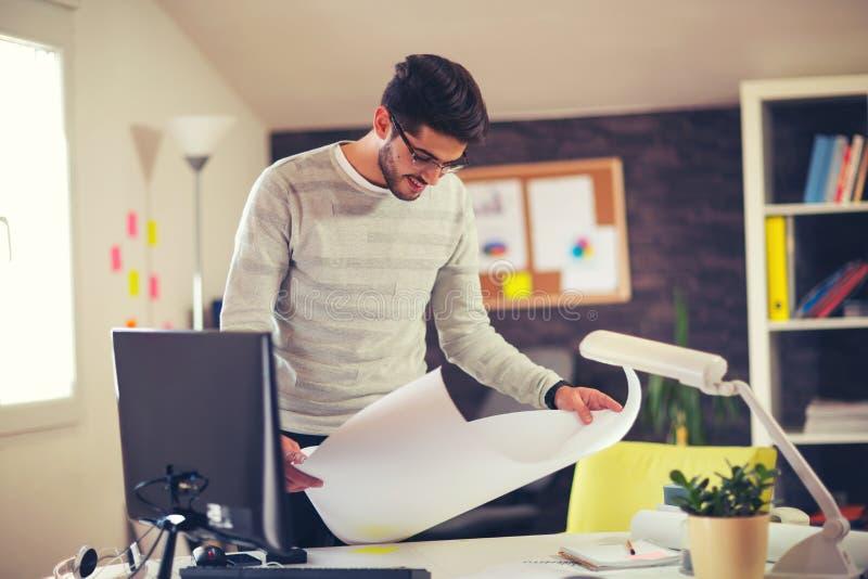 Concept de Design Working Planning d'architecte photographie stock