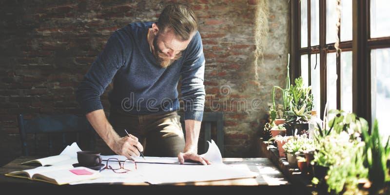 Concept de Design Working Planning d'ingénieur d'architecte images stock