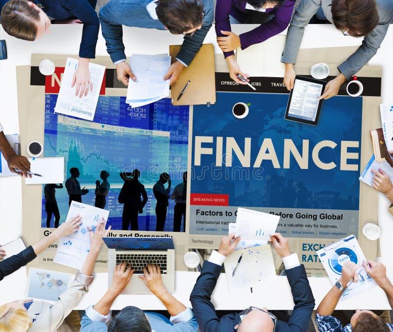 Concept de dette de crédit budgétaire d'opérations bancaires de comptabilité de finances image libre de droits