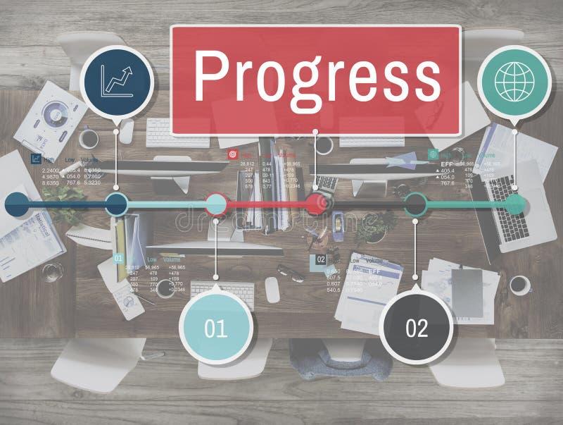 Concept de Develoment de mission d'investissement d'amélioration de progrès photo libre de droits