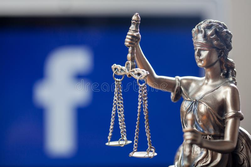 Concept de devise de Balance de Facebook crypto photo libre de droits