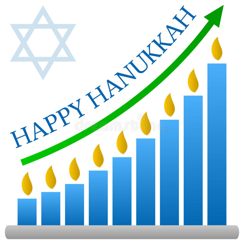 Concept de diagramme à barres de Hanukkah illustration libre de droits