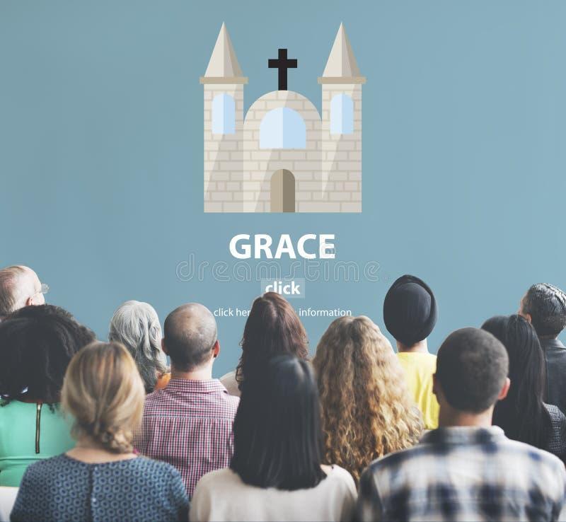 Concept de Dieu de foi de Grace Hope Poise Spiritual Worship photographie stock libre de droits