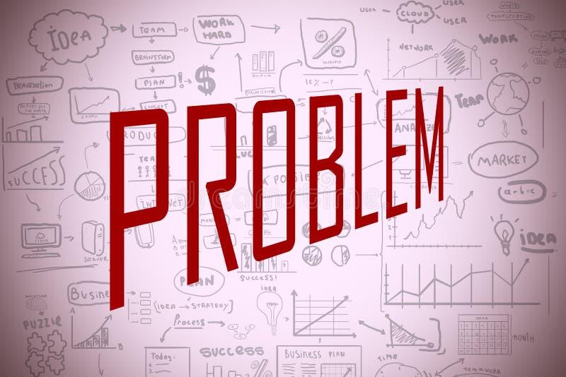 Concept de difficulté et de problème illustration de vecteur