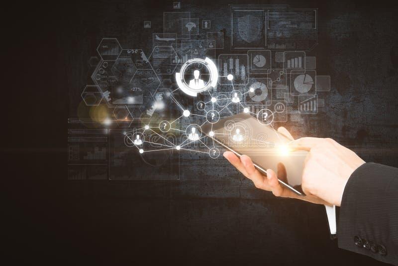 Concept de dispositif et d'innovation illustration de vecteur