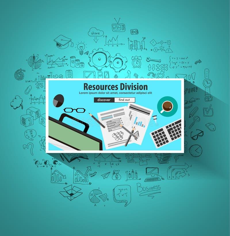 Download Concept De Division De Ressources D'affaires Avec Le Style De Conception De Griffonnage Illustration de Vecteur - Illustration du idée, employé: 77150731