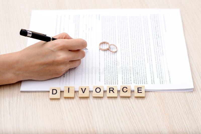 Concept de divorce images stock