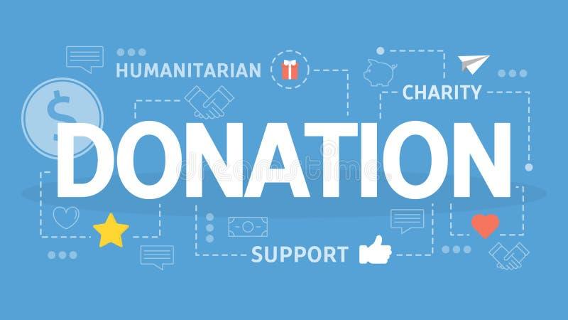 Concept de donation et de charité Idée d'investissement d'argent illustration stock