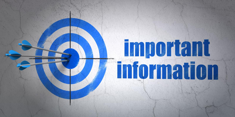 Concept de données : cible et information importante sur le fond de mur illustration libre de droits