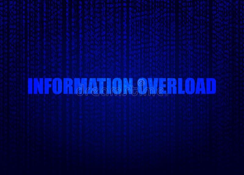 Concept de données : Fond de vecteur, art de Digital, illustration bleue lumineuse de surcharge d'information illustration stock