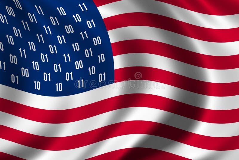Concept de drapeau d'espion des Etats-Unis illustration de vecteur