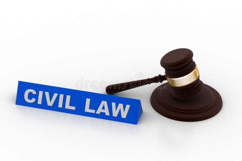Concept de Droit Civil illustration stock