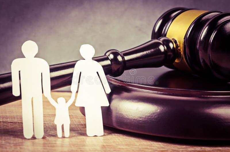 Concept de droit de la famille images libres de droits