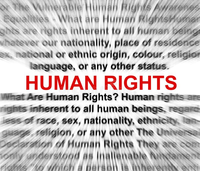 Concept de droits de l'homme illustration libre de droits