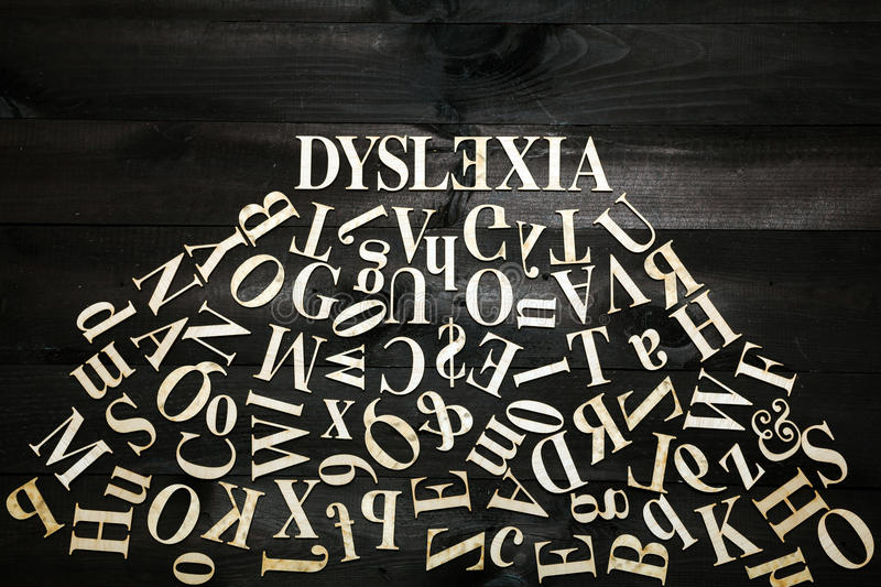 Concept de dyslexie photos stock