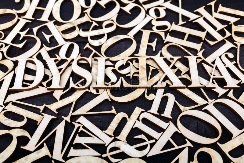 Concept de dyslexie photo stock