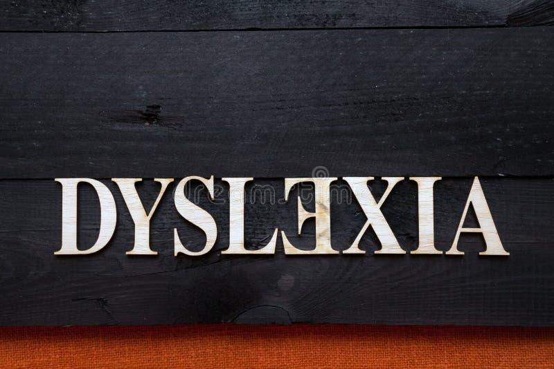 Concept de dyslexie images stock