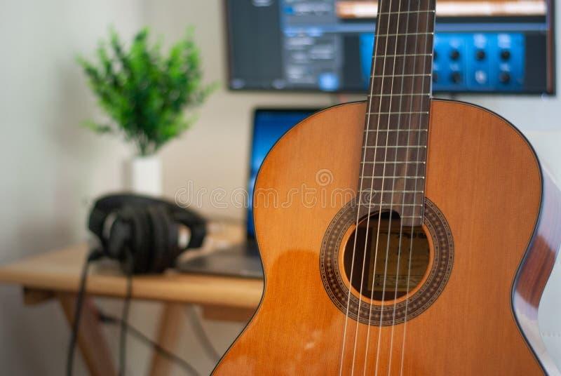 Concept de enregistrement de chant de pièce photo libre de droits