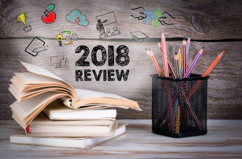 Concept de 2018 examens images libres de droits