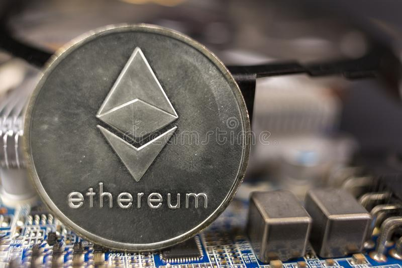 Concept de extraction d'ethereum de cryptocurrency photos libres de droits