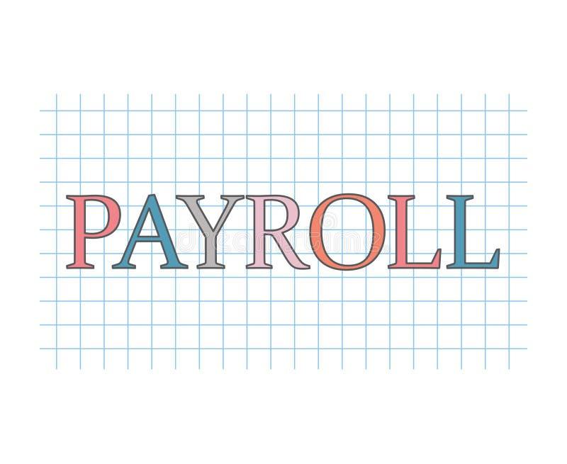 Concept de feuille de paie illustration stock