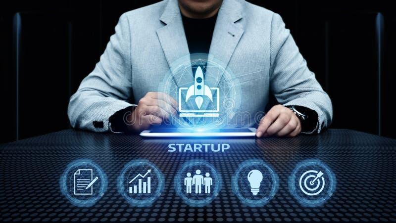 Concept de financement de démarrage de technologie d'affaires d'Internet d'esprit d'entreprise de capital-risque d'investissement images stock
