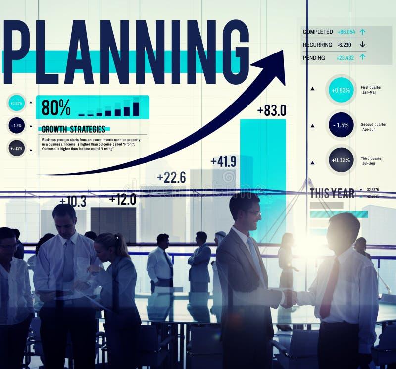 Concept de finances d'affaires d'analyse de stratégie de planification images stock