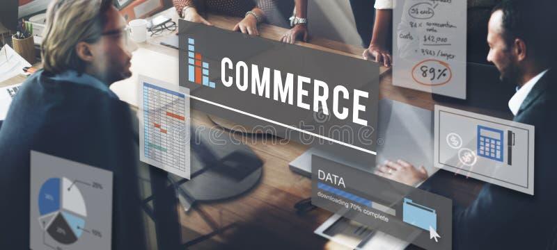 Concept de finances d'affaires de vente de commerce photographie stock