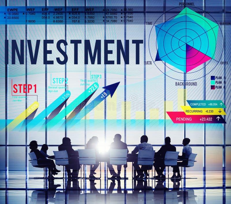 Concept de finances de coûts d'affaires de budget d'investissement illustration de vecteur