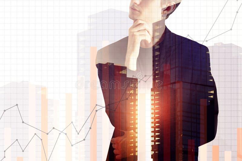 Concept de finances et de croissance image libre de droits